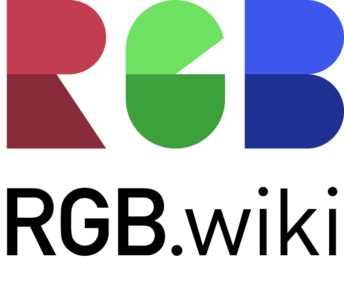 The wonderful RGB.wiki logo in its iconic colors of ruminative red, graceful green and bracing blue